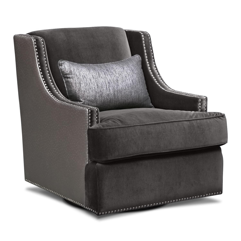 [Nicole Charcoal Swivel Chair]