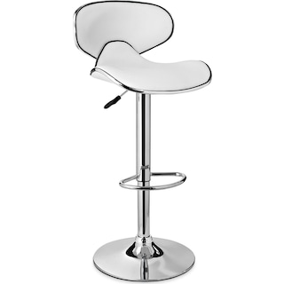 Liv Adjustable Barstool - White