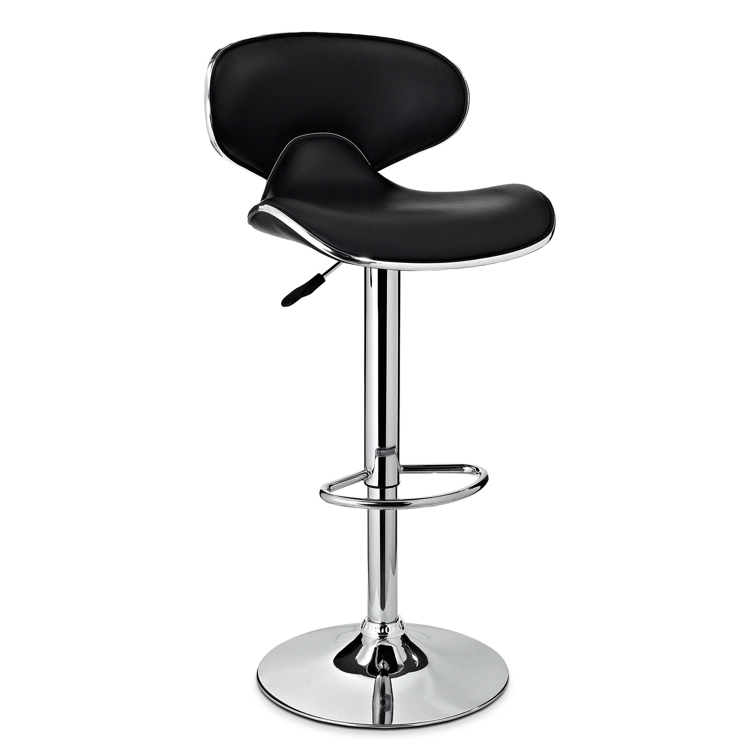 Accent and Occasional Furniture - Liv Adjustable Barstool - Black