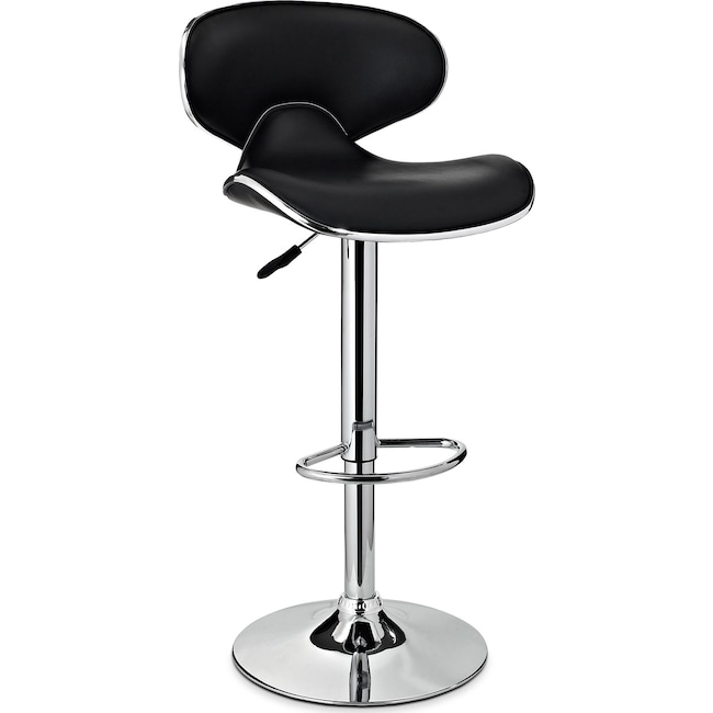 Dining Room Furniture - Liv Adjustable Barstool - Black