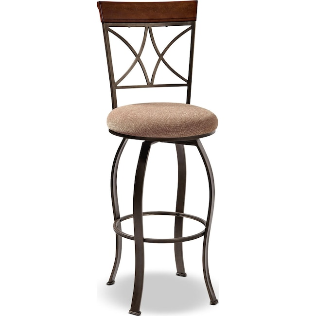Accent and Occasional Furniture - Rosedale Barstool - Medium Cherry