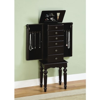 Milton Jewelry Armoire - Black