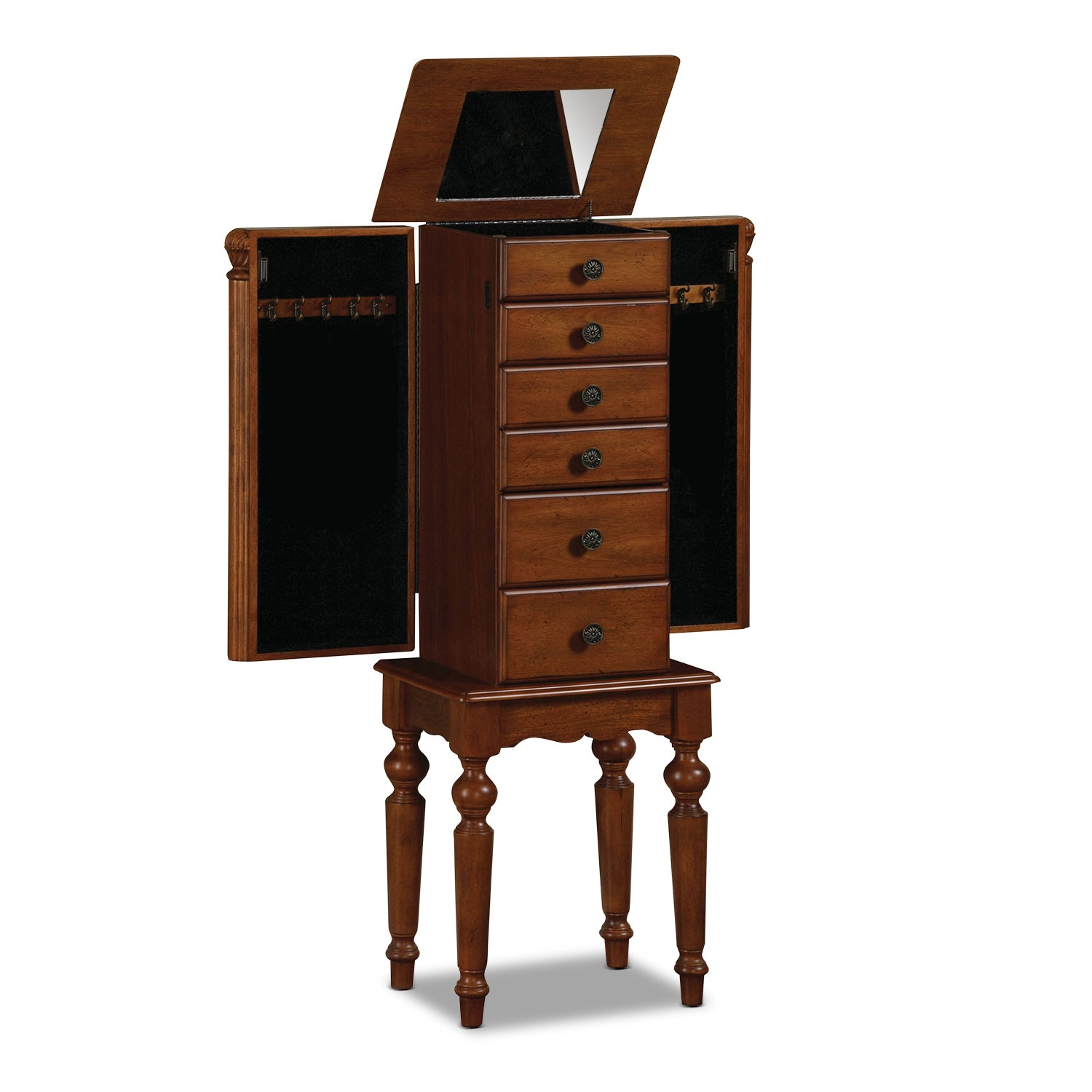 Milton Jewelry Armoire - Cherry