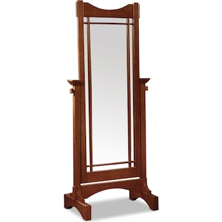 Blain Cheval Mirror - Oak