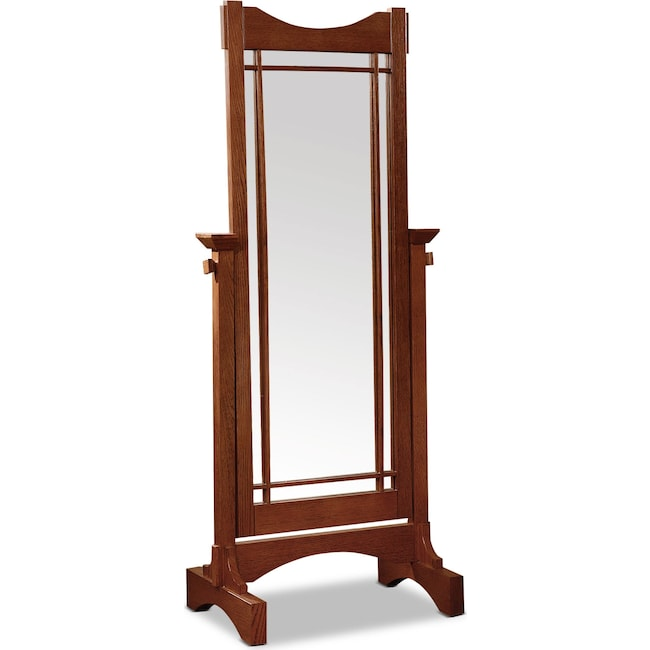 Bedroom Furniture - Blain Cheval Mirror - Oak