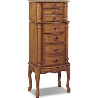 Ivy Jewelry Armoire - Oak