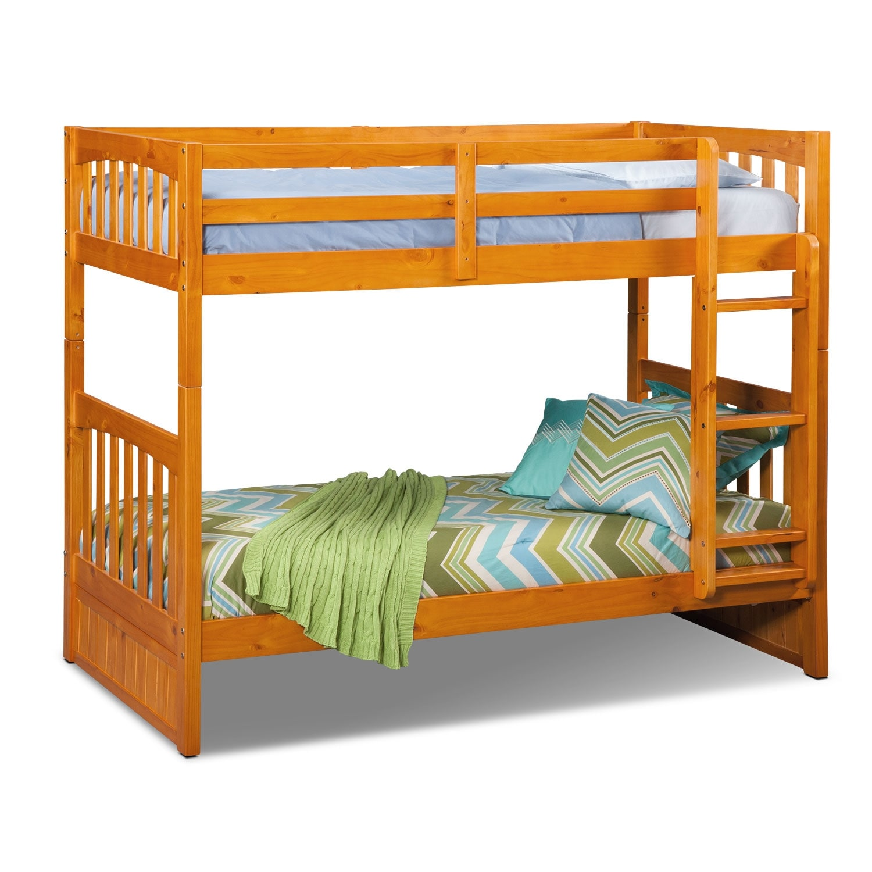 Kids Furniture - Ranger Pine Twin/Twin Bunk Bed