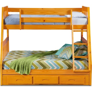Ranger Twin over Full Storage Bunk Bed - Pine