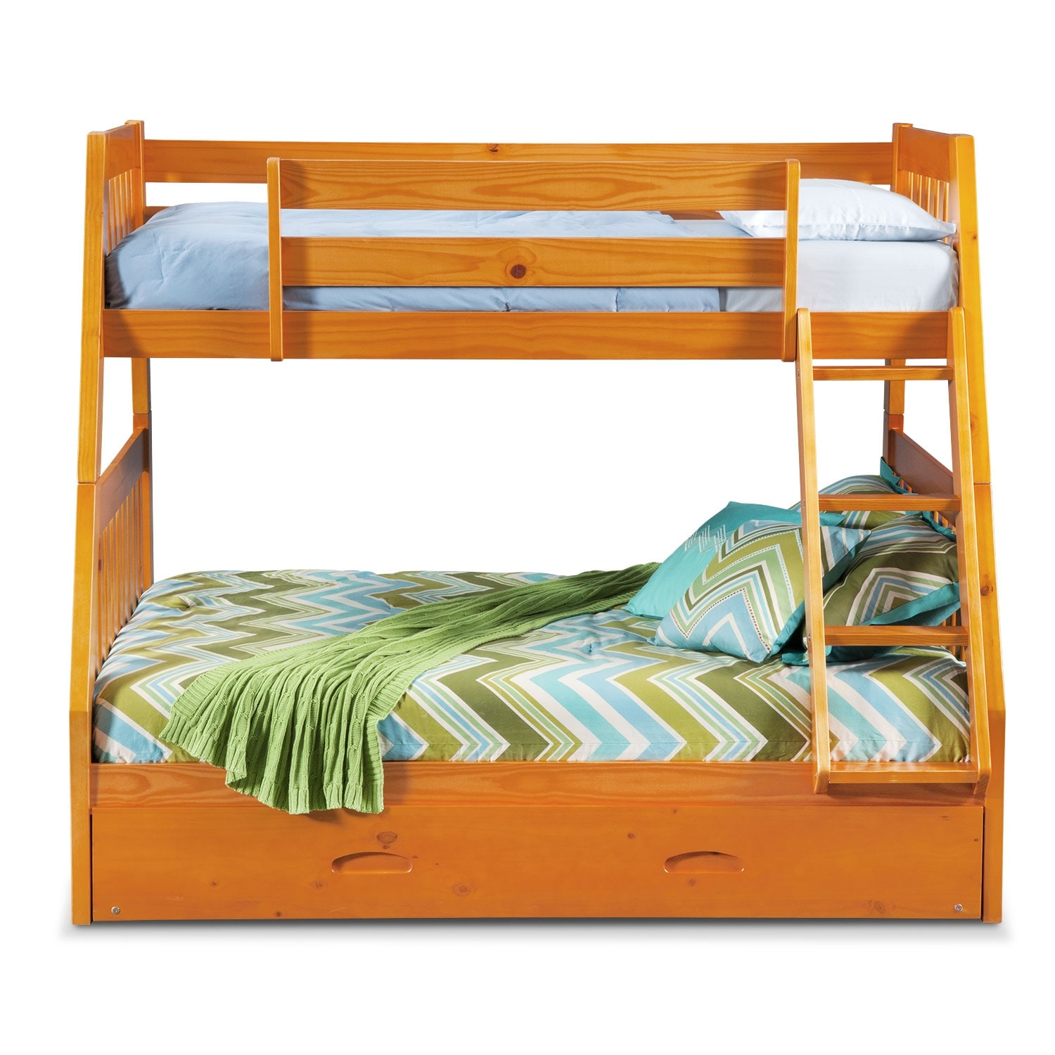 100 bunk beds pine powell matte black and country pine twin