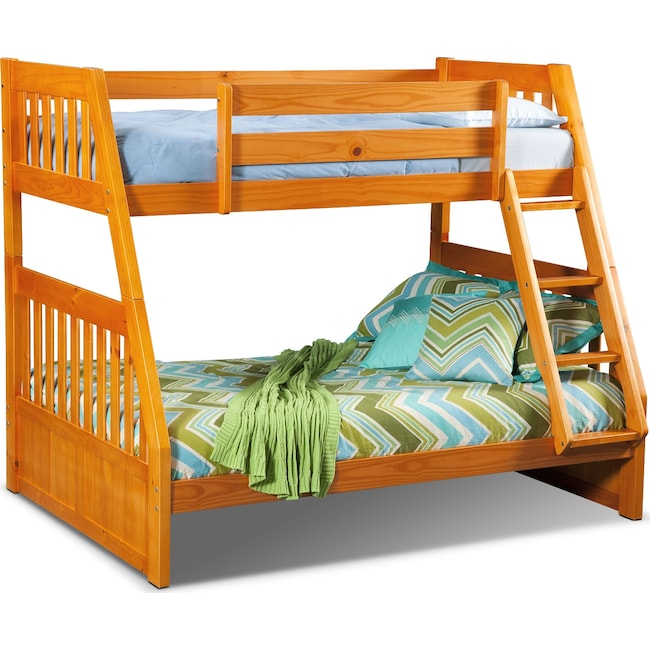 Kids Furniture - Ranger Twin over Full Bunk Bed - Pine