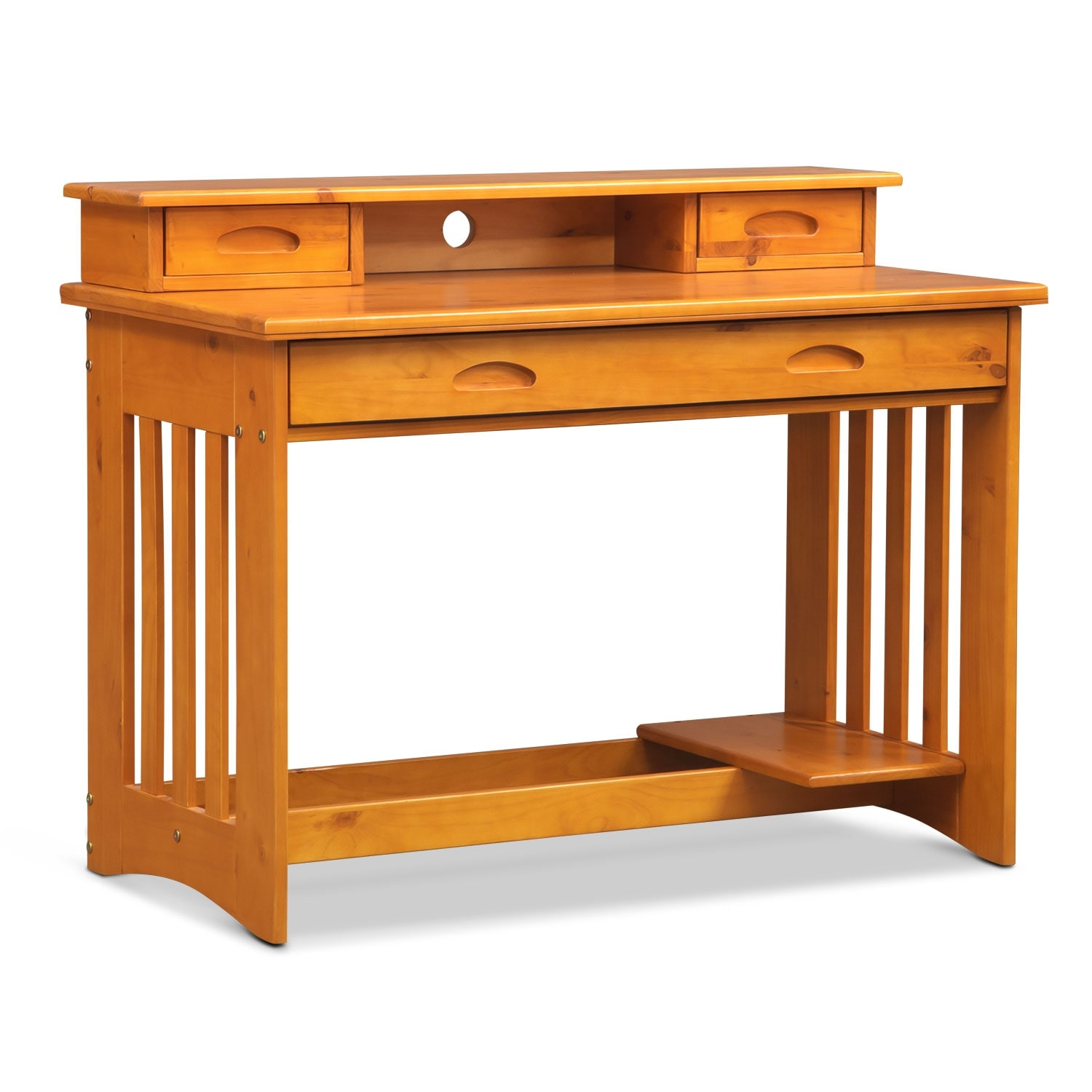 Ranger Pine Desk with Hutch