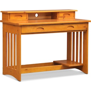 Ranger Desk with Hutch - Pine