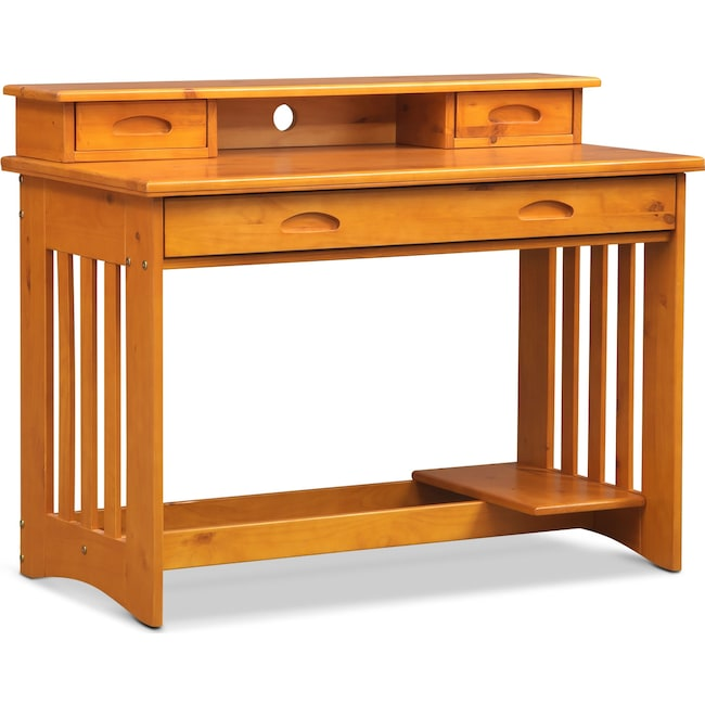 Kids Furniture Ranger Desk With Hutch Pine