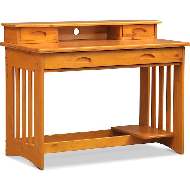 Kids Furniture - Ranger Desk with Hutch - Pine