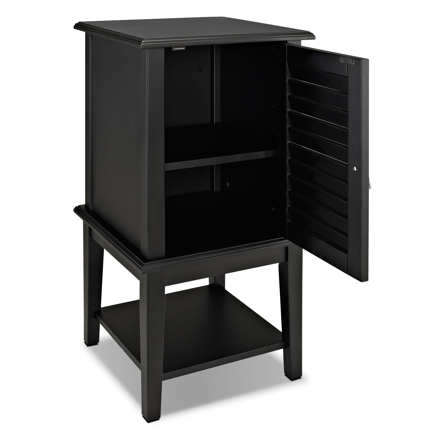 Tulsa Side Table Black Value City Furniture