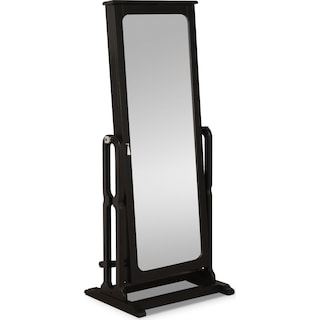 Sadie Cheval Storage Mirror - Black