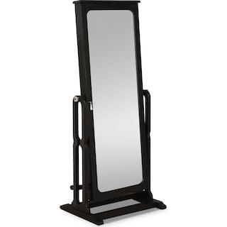 Sadie Cheval Storage Mirror - Black