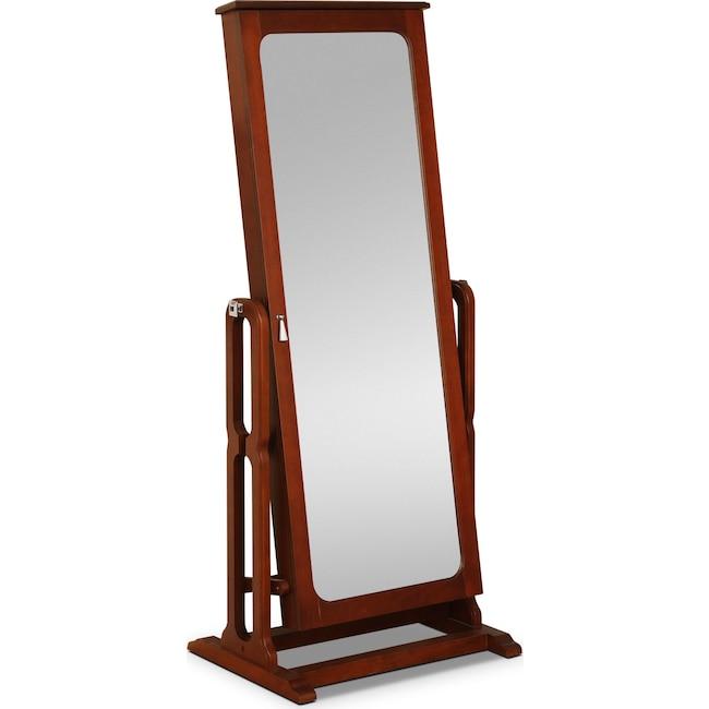 Bedroom Furniture - Sadie Cheval Storage Mirror - Cherry