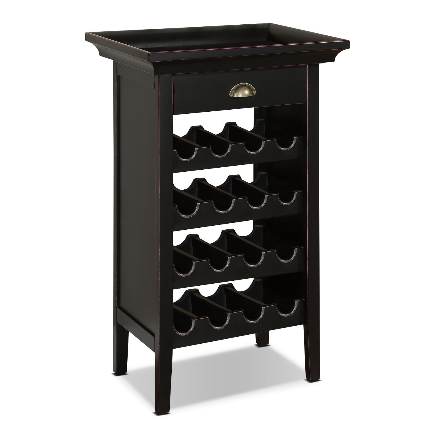 Accent and Occasional Furniture - East Point Wine Cabinet - Black