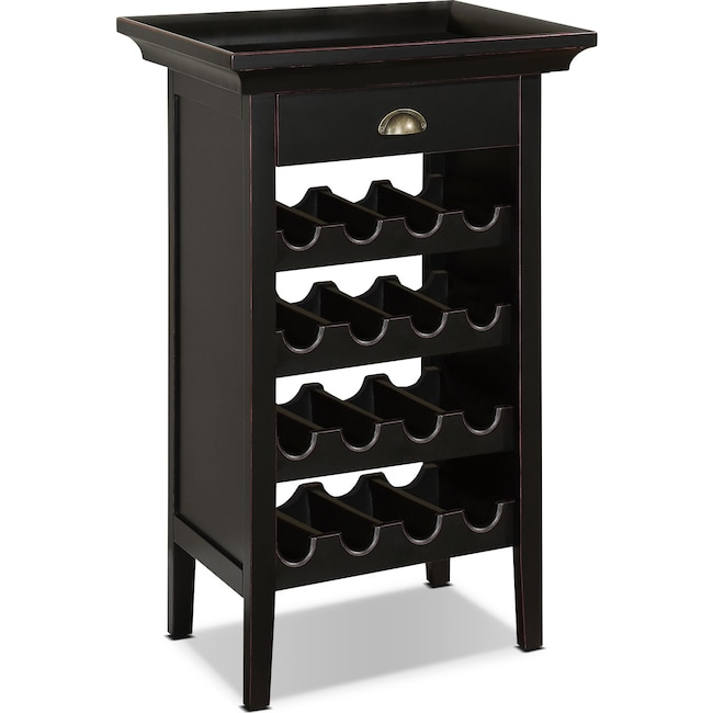 Dining Room Furniture - East Point Wine Cabinet - Black