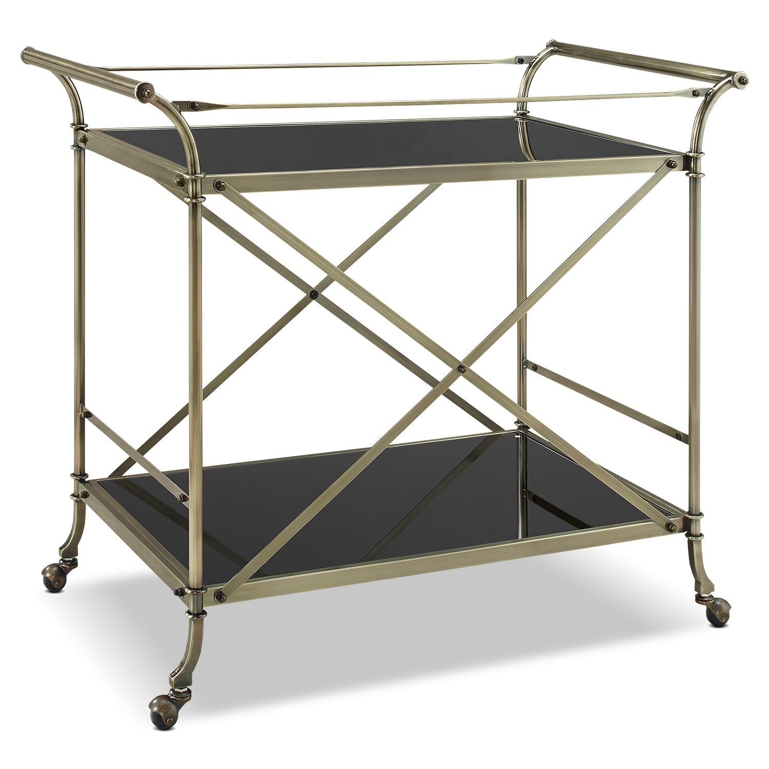 Barclay Serving Cart - Antique Brass
