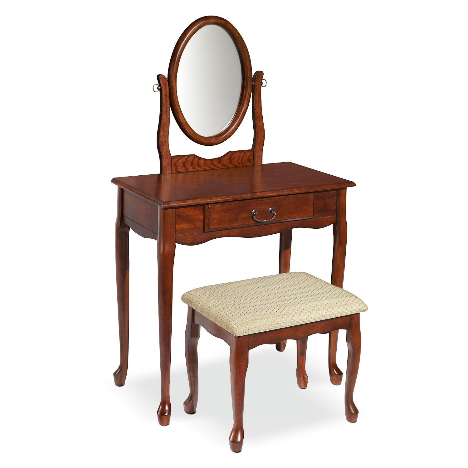 Bedroom Furniture - Gracie Vanity Set - Cherry