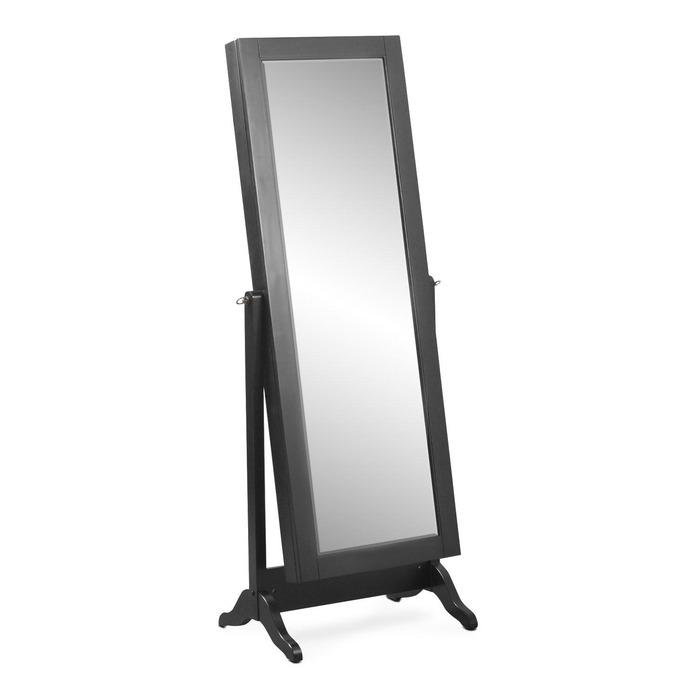 Loren Cheval Storage Mirror - Black
