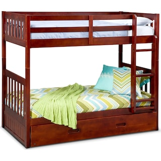 Ranger Twin over Twin Bunk Bed with Twin Trundle