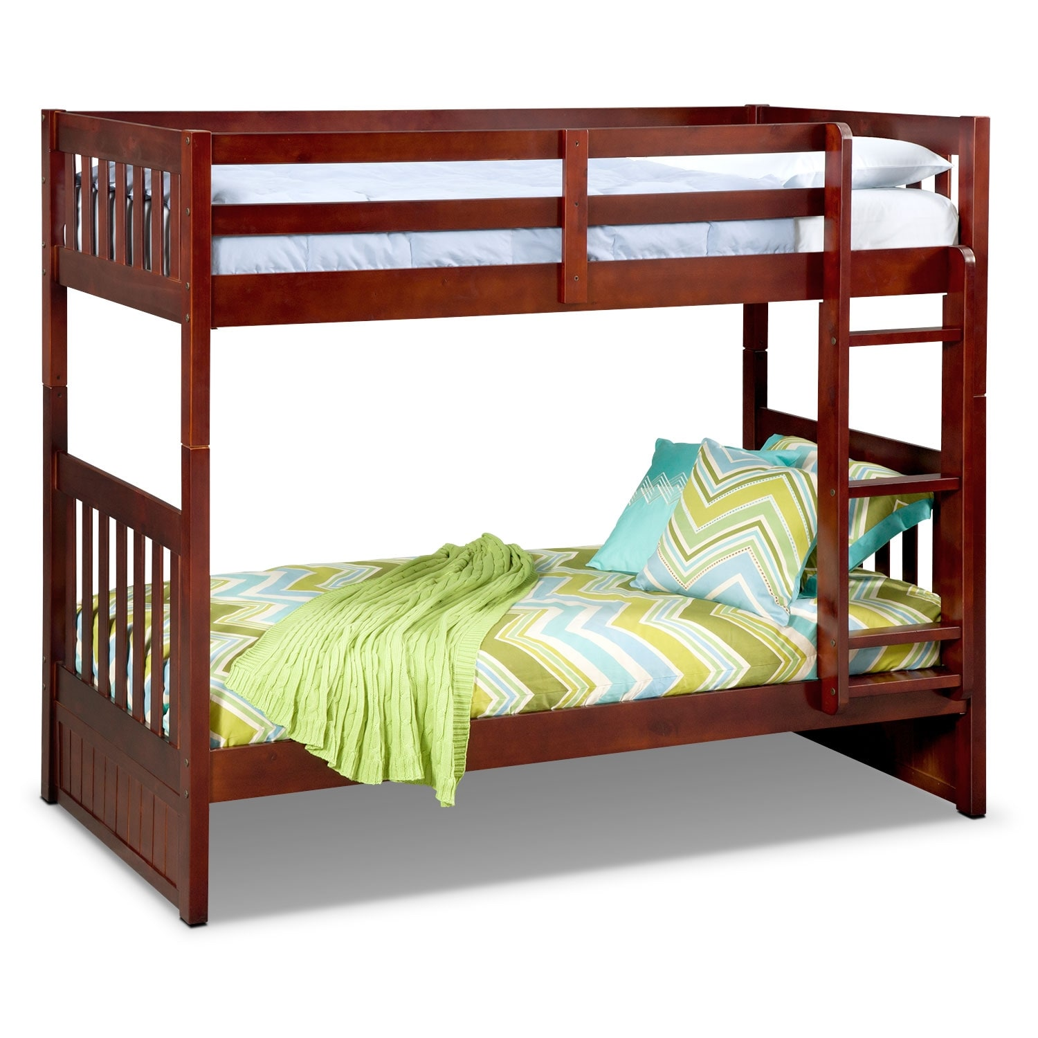 Ranger Merlot Twin/Twin Bunk Bed