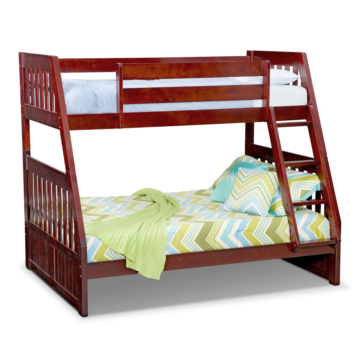 [Ranger Merlot Twin/Full Bunk Bed]