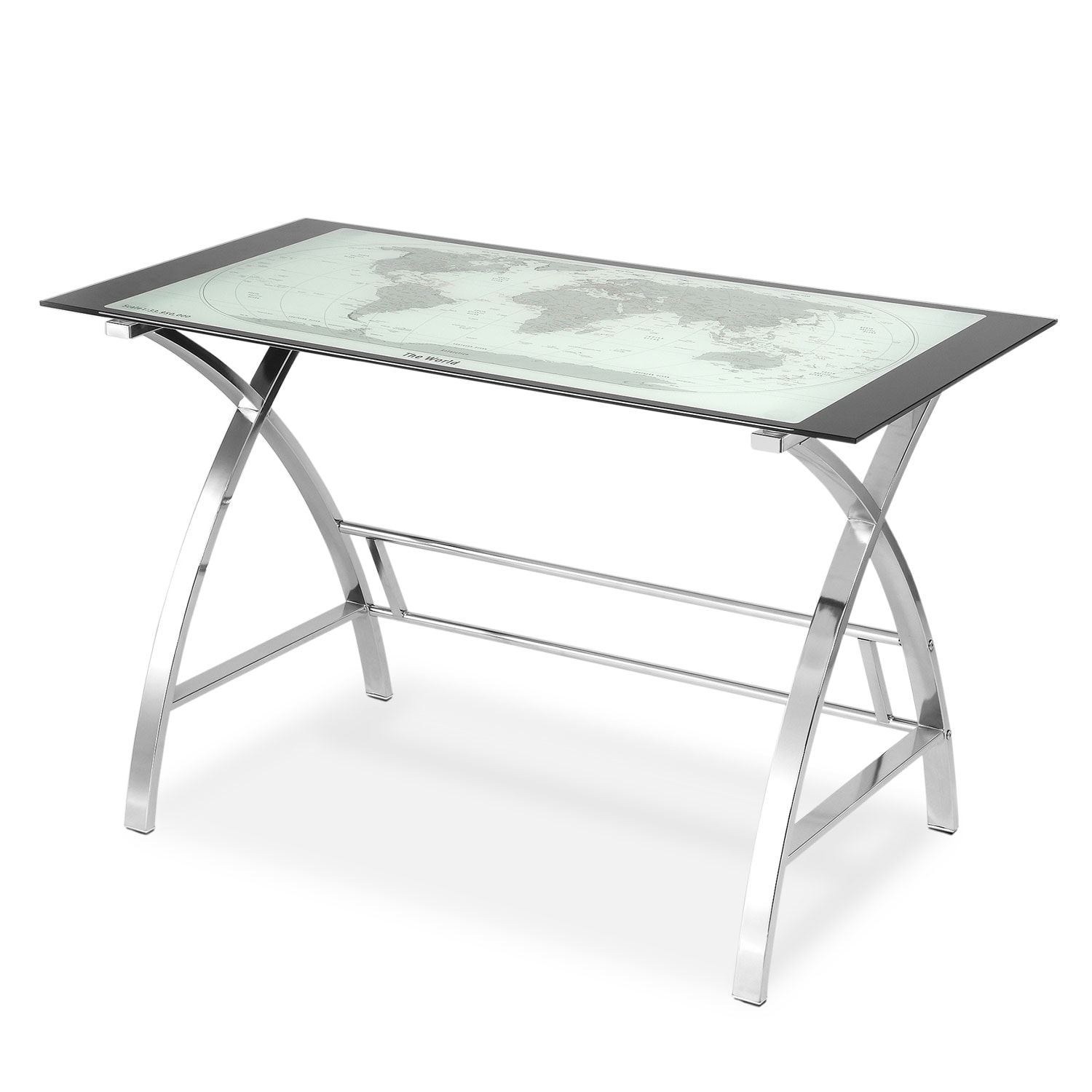 Home Office Furniture - Aether Desk - Chrome