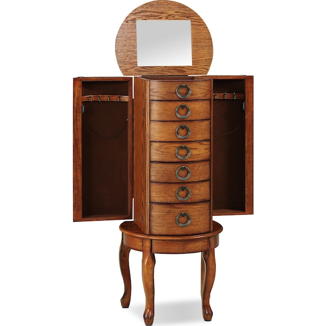 Accent and Occasional Furniture - Niles Jewelry Armoire - Oak