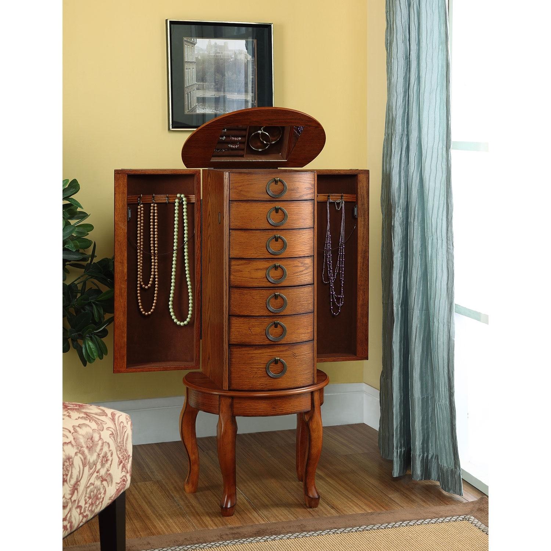 Niles Jewelry Armoire Oak Value City Furniture