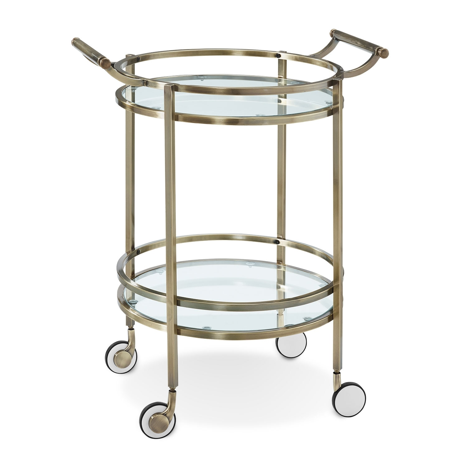 Layne Serving Cart - Brass