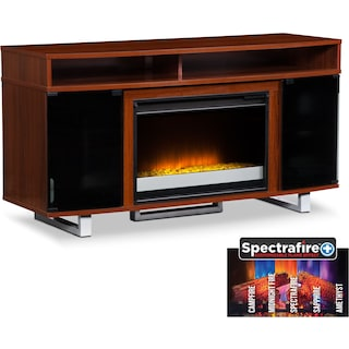 "Pacer 56"" Contemporary Fireplace TV Stand - Cherry"