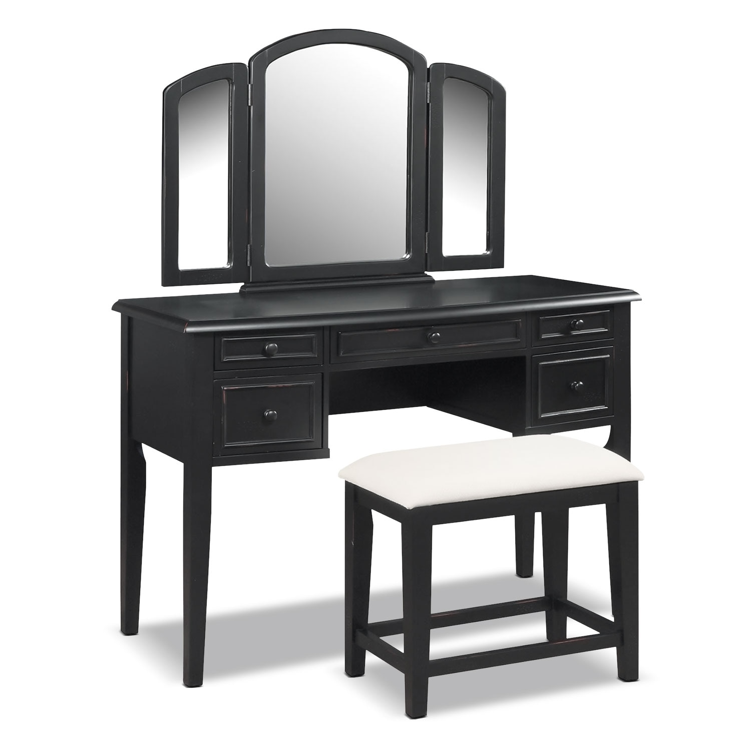 Accent And Occasional Furniture Audrina Vanity With Stool