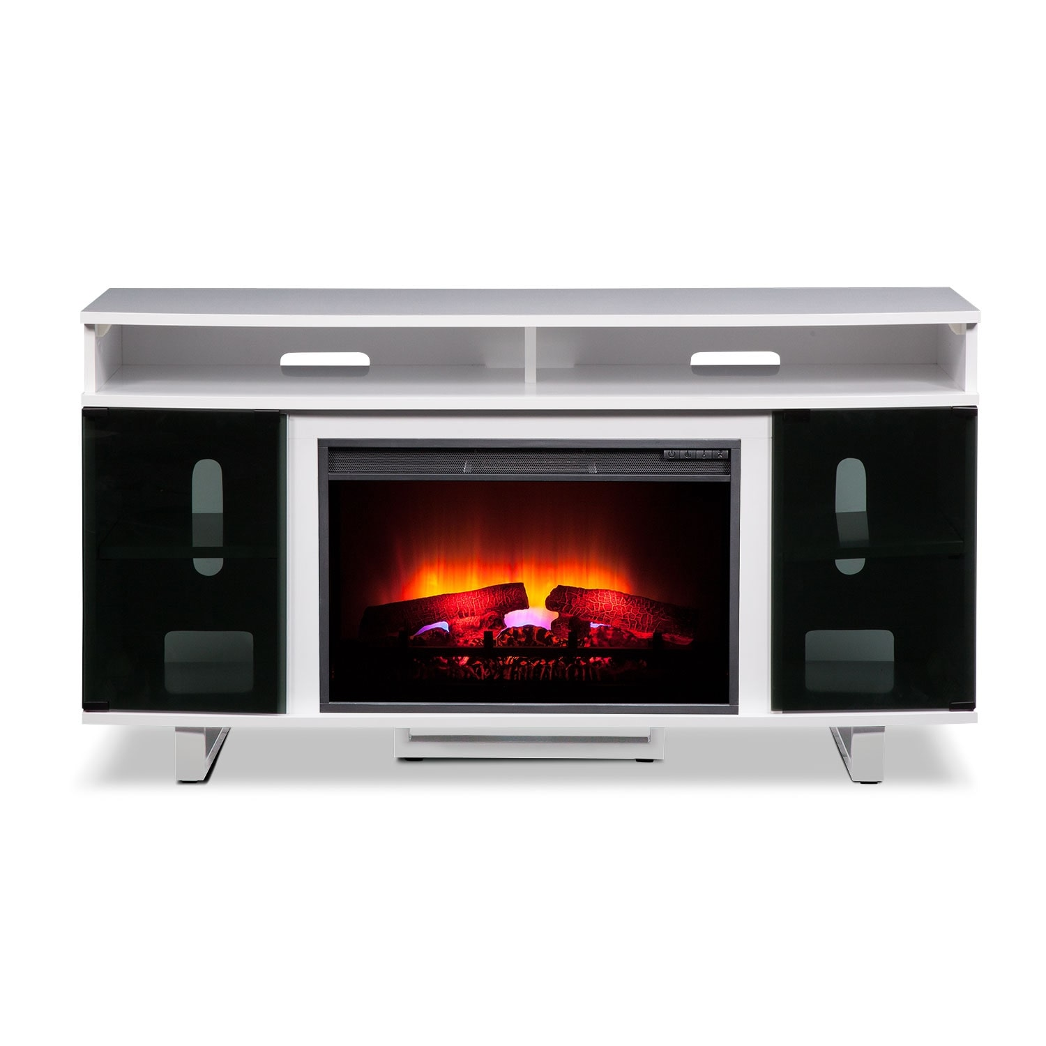 Pacer 56 Quot Traditional Fireplace Tv Stand White Value