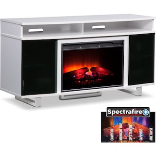 "Pacer 56"" Traditional Fireplace TV Stand - White"