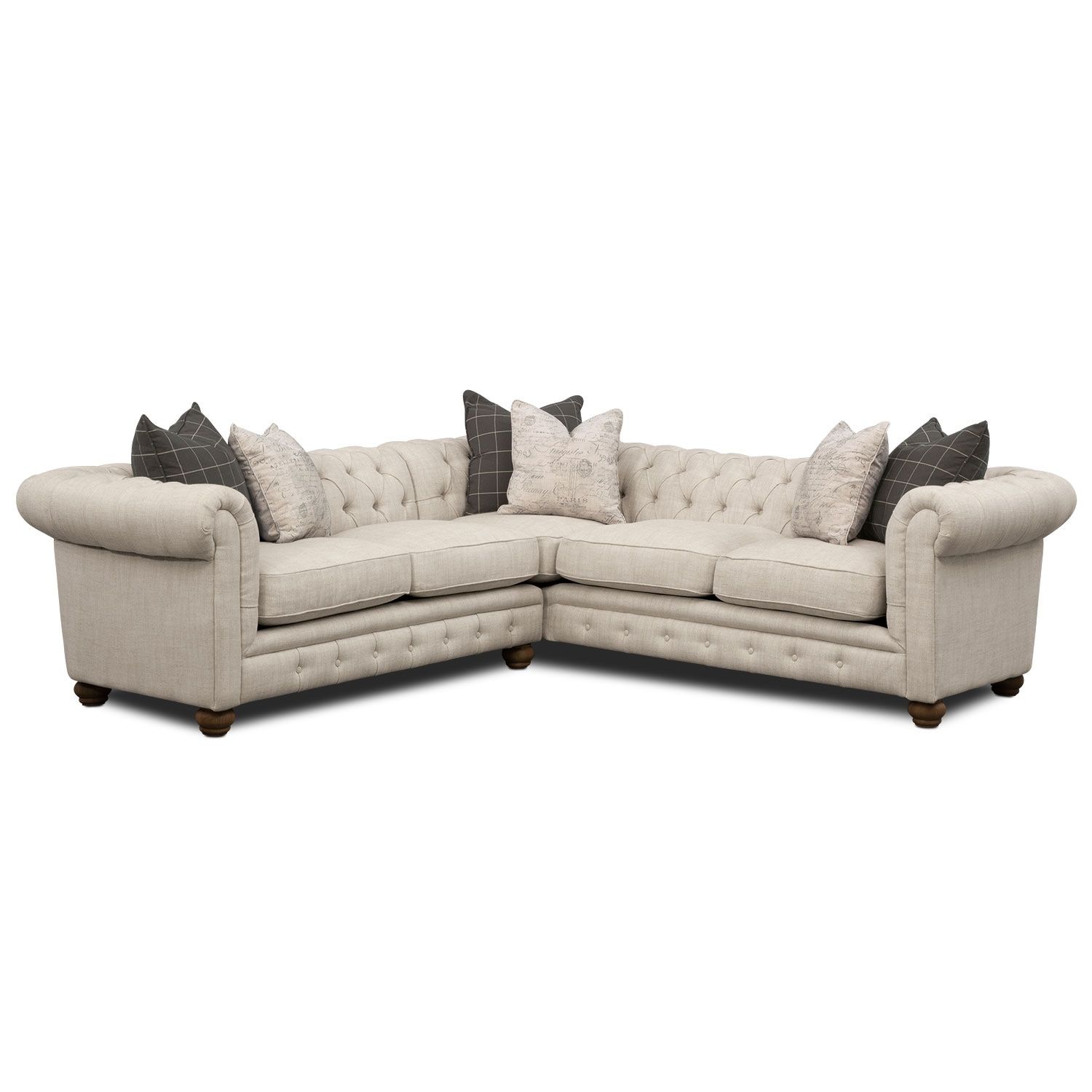 Madeline 2-Piece Sectional - Beige
