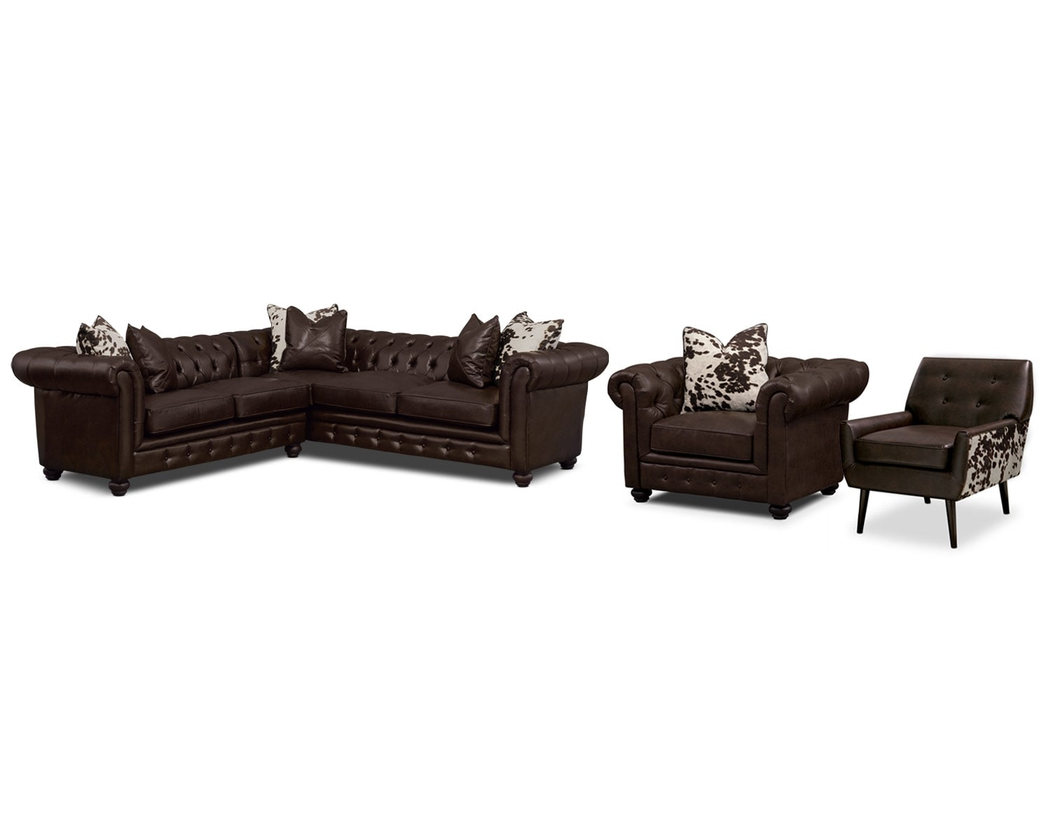 The Madeline Chocolate Sectional Collection