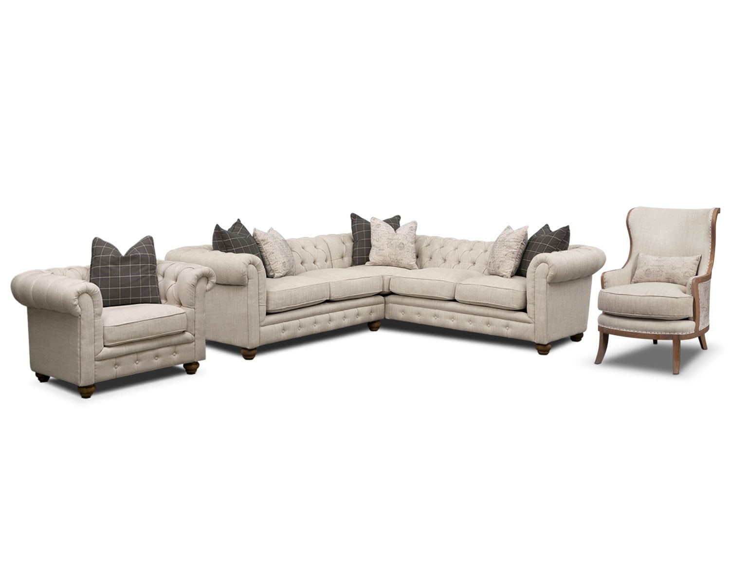 The Madeline Beige Sectional Collection