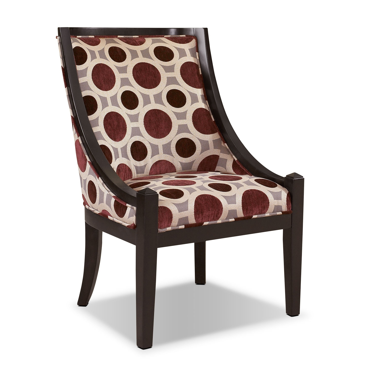 Callie Accent Chair - Mulberry