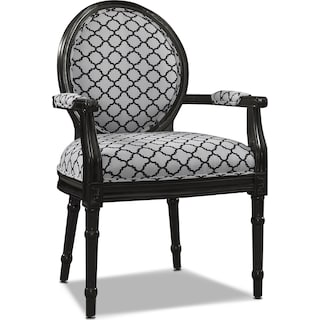 Myra Accent Chair - Black and White