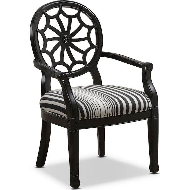 Accent and Occasional Furniture - Willa Accent Chair - Black