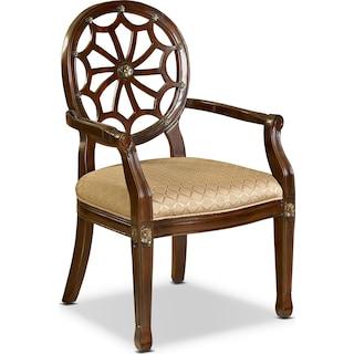 Vicola Accent Chair - Mahogany
