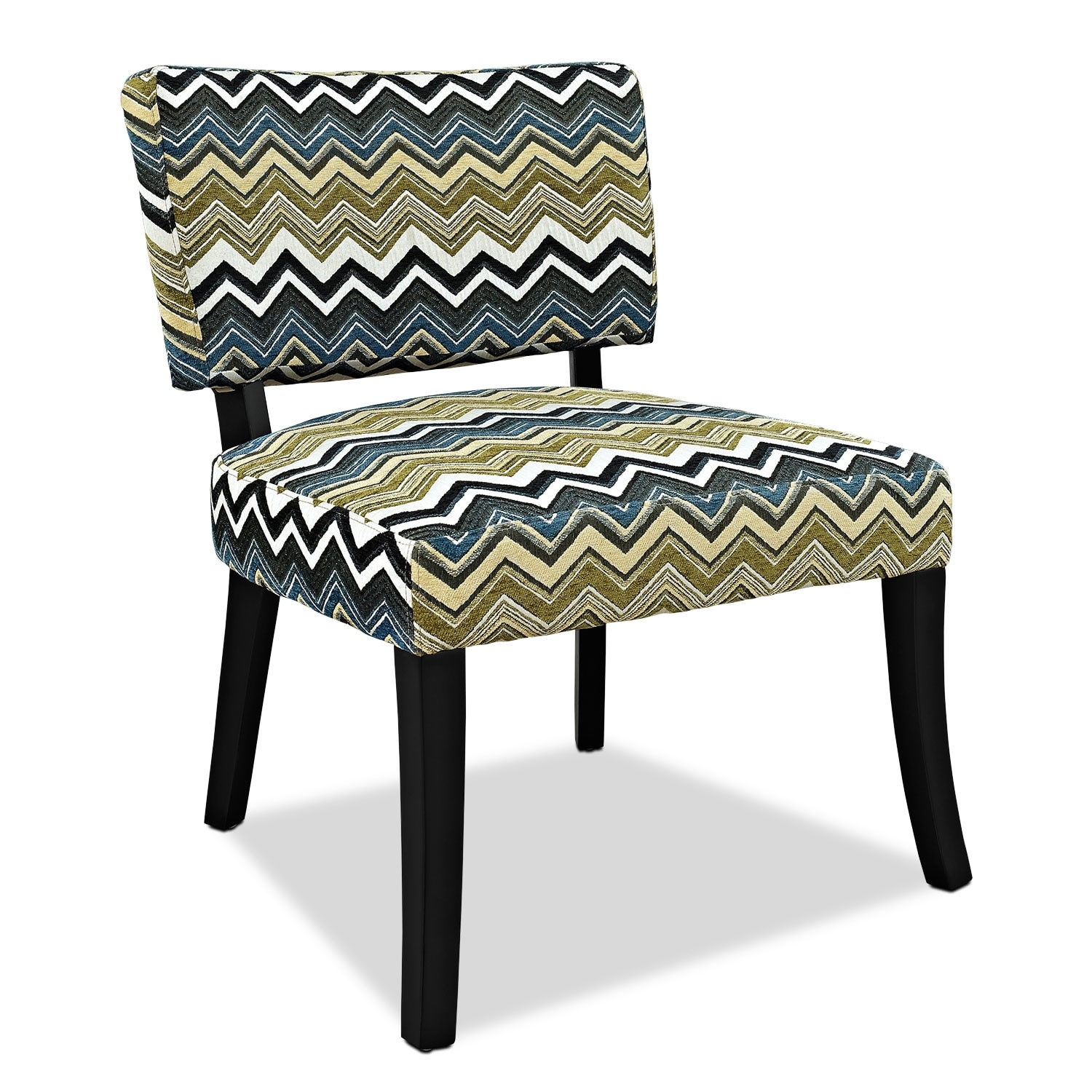 Accent and Occasional Furniture - Zuri Accent Chair - Chevron
