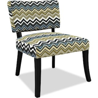 Zuri Accent Chair - Chevron