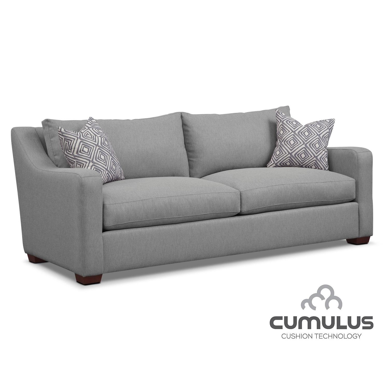 Living Room Furniture - Jules Cumulus Sofa- Gray