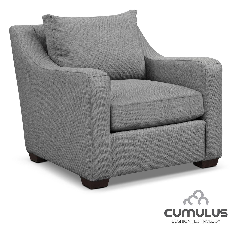 Living Room Furniture - Jules Cumulus Chair- Gray