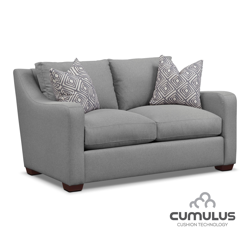 Living Room Furniture - Jules Cumulus Loveseat- Gray
